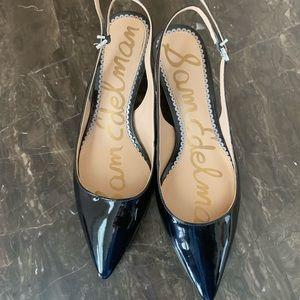 Black patent Sam Edelman kitten heels